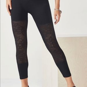 Fabletics leggings with floral mesh